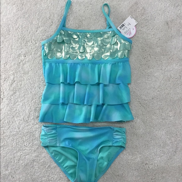 f5d27013d7f Justice Swim | Blue Mermaid Bathing Suit Girls Size 7 | Poshmark